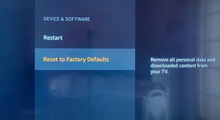 How to Reset Toshiba Fire TV
